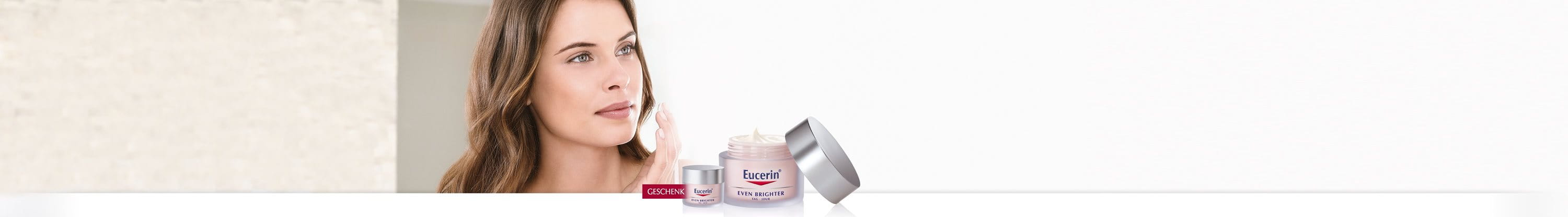 Alt Attr: Eucerin Even Brighter Produktsortiment